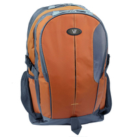 "V7 Odyssey Laptop Backpack 16"" Zaino Grigio, Arancione"