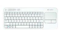 Logitech K400 RF Wireless AZERTY Francese Bianco tastiera
