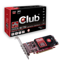 CLUB3D Radeon HD 7750 Eyefinity 4 2GB Radeon HD7750 2GB GDDR5