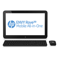 "HP ENVY Rove 20-k000en 1.7GHz i3-4010U 20"" 1600 x 900Pixel Touch screen Nero, Argento PC All-in-one"