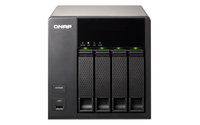 QNAP TS-412 + 4x ST3000VN000 NAS Torre Collegamento ethernet LAN Nero