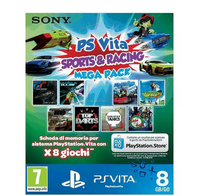 Sony 8GB MC + Mega Pack Sports E Racing Basic PlayStation Vita ITA videogioco