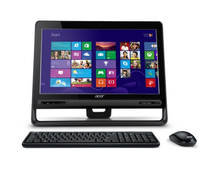 "Acer Aspire 3-105 AIO Touch 1.5GHz A4-5000 23"" 1920 x 1080Pixel Touch screen Nero PC All-in-one"
