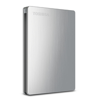 Toshiba 500GB Canvio Slim II Mac 500GB Argento disco rigido esterno