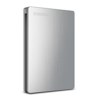 Toshiba 1TB Canvio Slim II Mac 1000GB Argento disco rigido esterno