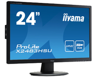 "iiyama ProLite X2483HSU-1 24"" Full HD A-MVA Nero monitor piatto per PC"