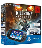 "Sony PSVita Wi-Fi + Killzone Mercenary + 8GB MS 5"" Touch screen Wi-Fi Nero console da gioco portatile"