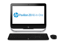 "HP Pavilion 20-b300ed 1.48GHz E1-1500 20"" 1600 x 900Pixel Nero, Argento PC All-in-one"
