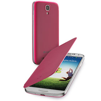 Cellularline BACKBOOKGALAXYS4P Custodia a libro Rosa custodia per tablet