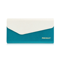Macally WALLETP6-W Custodia a libro Blu, Bianco custodia per cellulare