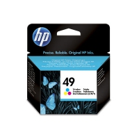 HP 49 Tri-color Inkjet Print Cartridge Ciano, Giallo cartuccia d