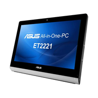 "ASUS ET ET2221INTH-B024K 2.9GHz i3-4130T 21.5"" 1920 x 1080Pixel Touch screen Nero, Argento PC All-in-one"