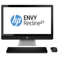 "HP ENVY Recline 27-k003d TouchSmart 2.5GHz i7-4770T 27"" 1920 x 1080Pixel Touch screen Nero, Argento PC All-in-one"