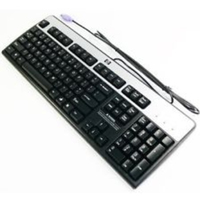 HP 434820-032 PS/2 QWERTY Inglese Nero, Argento tastiera