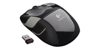 Logitech M525 Wireless  + USB Ottico Nero mouse