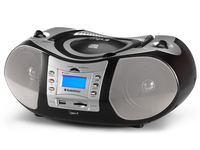 AudioSonic CD-1586 Digitale 10W Nero, Argento radio CD