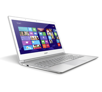 "Acer Aspire 392 1.6GHz i5-4200U 13.3"" 1920 x 1080Pixel Touch screen Argento, Bianco Computer portatile"