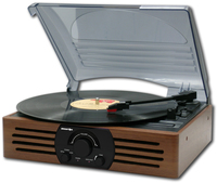 Brigmton BTC-402 Direct drive audio turntable Nero, Legno piatto audio