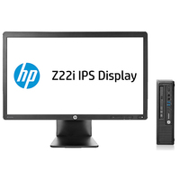 HP EliteDesk DESKTOP BUNDEL (E4Z53ET+D7Q14AT) 800 USDT i3-4130 + Z22i Monitor 3.4GHz i3-4130 USFF Nero PC