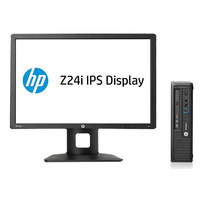 HP EliteDesk DESKTOP BUNDEL (H5T98ET+D7P53AT) 800 USDT i5-4570 + Z24i Monitor 2.9GHz i5-4570S USFF Nero PC