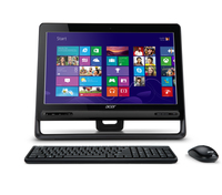 "Acer Aspire C-105 1.4GHz E1-2500 19.5"" 1600 x 900Pixel Touch screen Nero PC All-in-one"