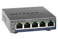 Netgear 5-Port ProSAFE Gigabit PoE Plus No gestito L2 Gigabit Ethernet (10/100/1000) Supporto Power over Ethernet (PoE) Grigio