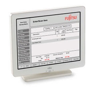"Fujitsu Displays D22 12.1"" Bianco monitor piatto per PC"