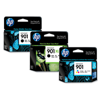 HP 901 2-pack Black Original Ink Cartridges cartuccia d