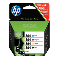 HP 364 Ink Cartridge Combo Content Pack Nero, Ciano, Giallo cartuccia d