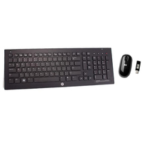 HP 628688-241 RF Wireless QWERTY Lucidante Nero tastiera
