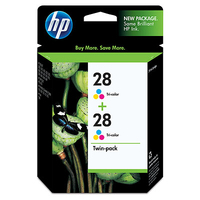 HP 28 2-pack Tri-color Ciano, Giallo cartuccia d
