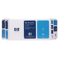 HP 81 Value Pack 680-ml Cyan Dye Ink Cartridge and Printhead Ciano cartuccia d