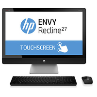 "HP ENVY Recline 27-k150ef TouchSmart 2.5GHz i7-4770T 27"" 1920 x 1080Pixel Touch screen Argento PC All-in-one"