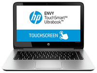 "HP ENVY TouchSmart 14-k120us 1.6GHz i5-4200U 14"" 1366 x 768Pixel Touch screen 3G Argento Computer portatile"