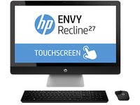 "HP ENVY Recline 27-k102d TouchSmart 2.5GHz i7-4770T 27"" 1920 x 1080Pixel Touch screen Nero, Argento PC All-in-one"