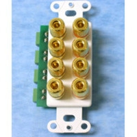 C2G Decorative 4-Pair Speaker Wire Binding Posts Wall Plate Insert