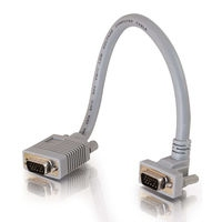 C2G 1ft Premium Shielded HD15 M/F SXGA Monitor Extension Cable 0.3m VGA (D-Sub) VGA (D-Sub) Grigio cavo VGA
