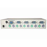 C2G Port Authority2 4-Port VGA KVM Switch with On-Screen Display Bianco switch per keyboard-video-mouse (kvm)