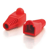 C2G RJ45 Plug Cover Rosso fermacavo