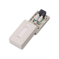 C2G Cat5E Surface Mount Box 1-Port Bianco divisore di rete