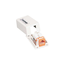 C2G Keystone Jack Surface Mount Box 1-Port White divisore di rete