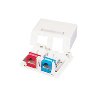 C2G Keystone Jack Surface Mount Box 2-Port White Bianco divisore di rete