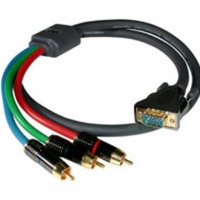 C2G 100ft SonicWaveT RCA Type Component Video / HD15 Breakout Cable 30.5m VGA (D-Sub) Grigio