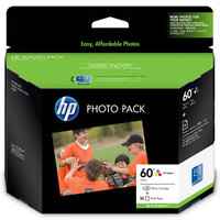 HP 60 Photo Value Pack-50 sht/10 x 15 cm cartuccia d