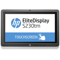 "HP EliteDisplay S230tm 23"" 1920 x 1080Pixel Multi-touch Da tavolo Nero, Argento monitor touch screen"