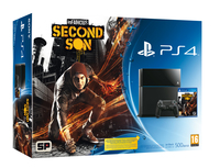 Sony 500GB PlayStation 4 + Infamous: Second Son 500GB Wi-Fi Nero