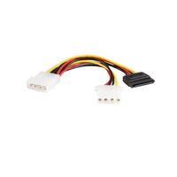 StarTech.com 6in LP4 - LP4 SATA Power Y Cable Adapter Multicolore cavo di alimentazione