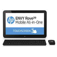 "HP ENVY Rove 20-k200ez Mobile 1.7GHz i3-4010U 20"" 1600 x 900Pixel Touch screen Nero, Argento PC All-in-one"