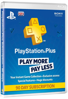 Sony PlayStation Plus PS4 Card: 90 smart card