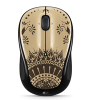 Logitech M325 RF Wireless Ottico Ambidestro Nero, Marrone mouse